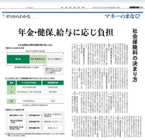 9月25日付「日本経済新聞」朝刊に取材協力記事が掲載されました